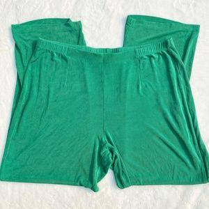 Green Chico's travelers gaucho pants